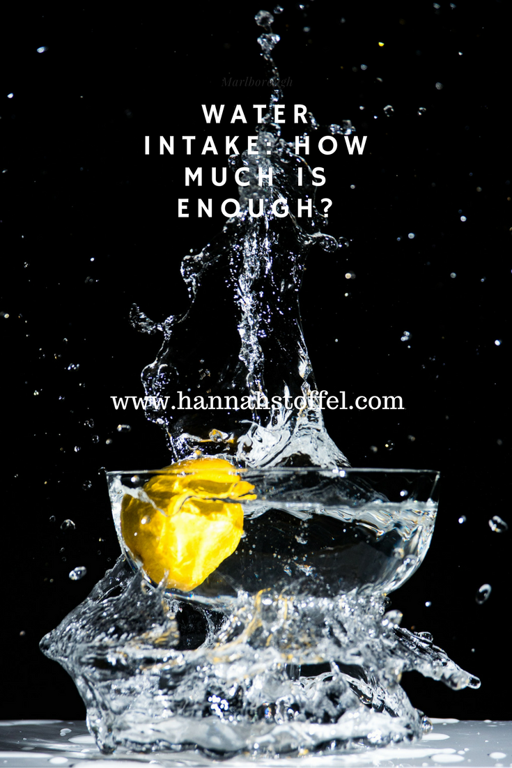 water intake: how much is enough?
